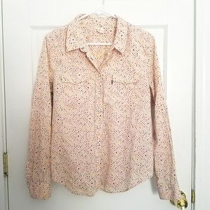 Levi's Western Snap Button Long Sleeve Blouse